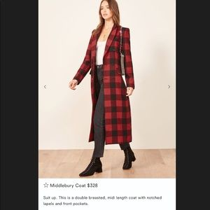 NWT Reformation Middlebury wool coat